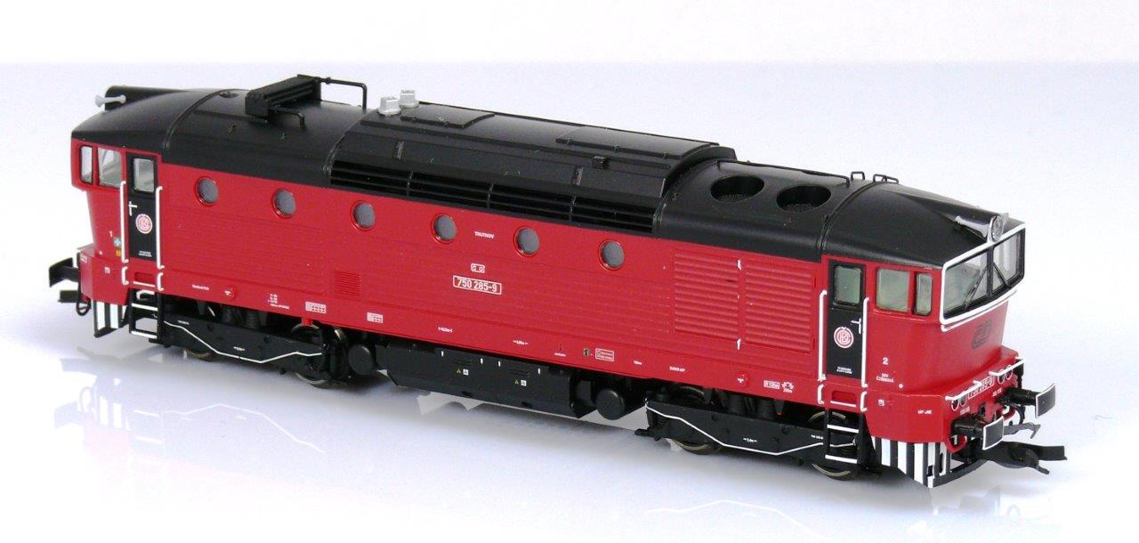 KUEHN 33327 Brejlovec 750 285-9 ČD (TT) | Železniční modelářství - modely  železnic, mašinky, modelová železnice.